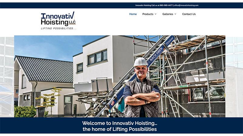 Innovativ Hoisting Website Home Page