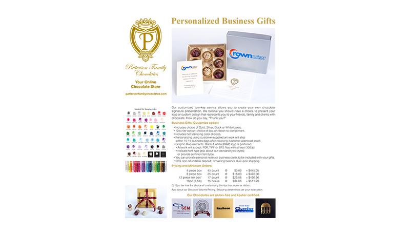 Patterson Family Chocolates Business Sales Sheet