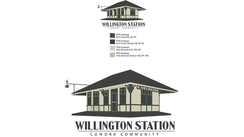 Willington Station Illustrated Logo